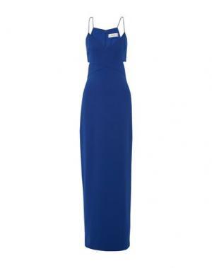 Длинное платье BADGLEY MISCHKA. Цвет: синий
