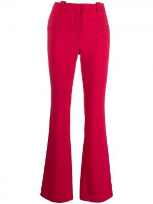 Расклешенные брюки Serge с завышенной талией Altuzarra. Цвет: красный