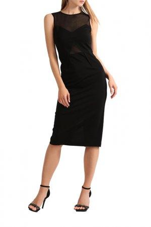 Трикотажное платье Apart. Цвет: черный