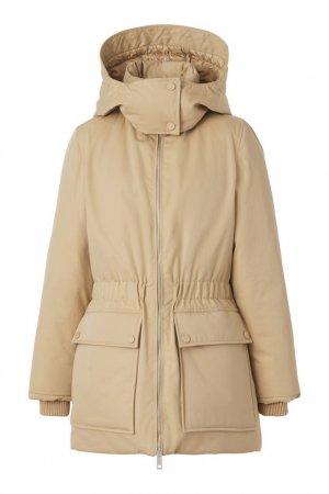 Бежевая куртка Burberry. Цвет: бежевый