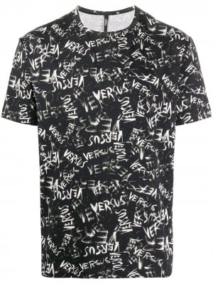 Graphic print T-shirt Versus. Цвет: черный