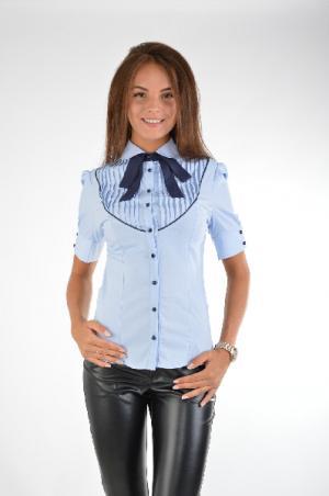 Рубашка Isabel Queen. Цвет: голубой