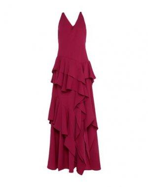 Длинное платье HALSTON. Цвет: пурпурный