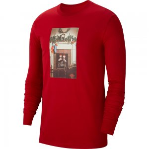 Jumpman Chimney Long-Sleeve T-Shirt Jordan. Цвет: красный