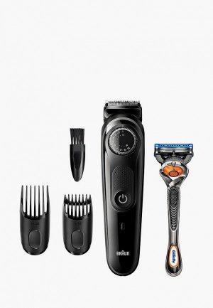 Набор для бритья Braun BT3242 + Бритва Gillette. Цвет: черный