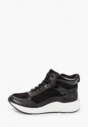 Ботинки Caprice увеличенная полнота H, Comfort. Цвет: черный