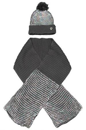 Шапка, шарф Little Marc Jacobs. Цвет: серый