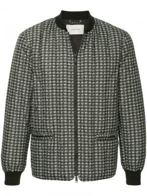 Куртка-бомбер в клетку Cerruti 1881. Цвет: серый