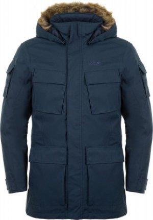 Куртка утепленная мужская Jack Wolfskin Glacier Canyon, размер 50-52. Цвет: синий
