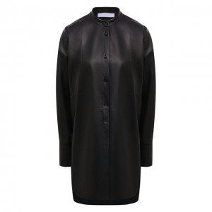Кожаная рубашка DROMe. Цвет: чёрный