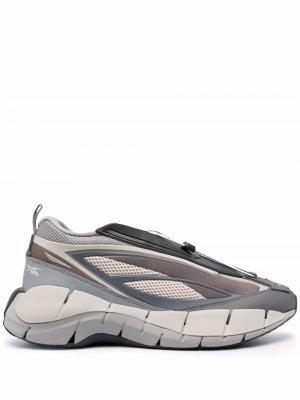 Массивные кроссовки Zig 3D Storm Reebok. Цвет: серый