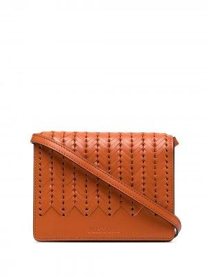Плетеная сумка через плечо Missoni. Цвет: оранжевый