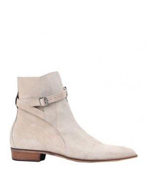 Полусапоги и высокие ботинки ARTIGIANI AURELIO GIOCONDI. Цвет: слоновая кость