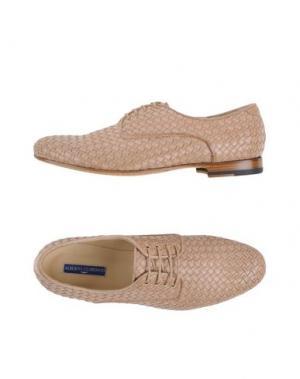 Обувь на шнурках ALBERTO GUARDIANI. Цвет: песочный