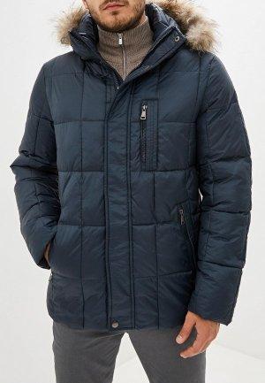Куртка утепленная Al Franco. Цвет: синий