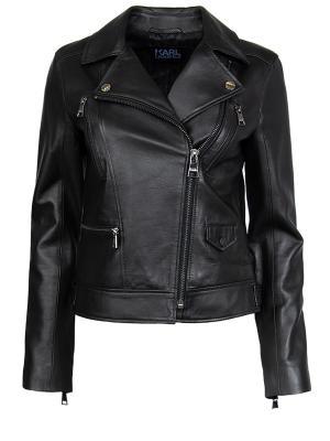 Кожаная куртка Karl Lagerfeld. Цвет: черный