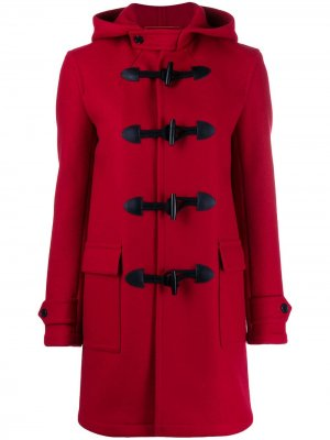 Дафлкот с капюшоном Saint Laurent. Цвет: красный