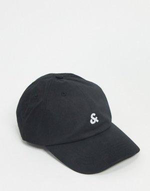 Бейсболка с логотипом -Черный Jack & Jones