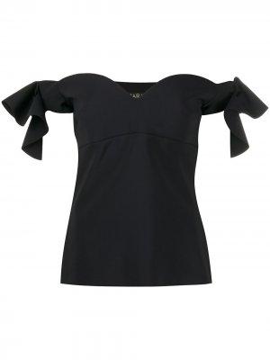 Топ с открытыми плечами Le Petite Robe Di Chiara Boni. Цвет: черный