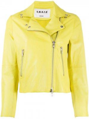 Байкерская куртка S.W.O.R.D 6.6.44. Цвет: желтый