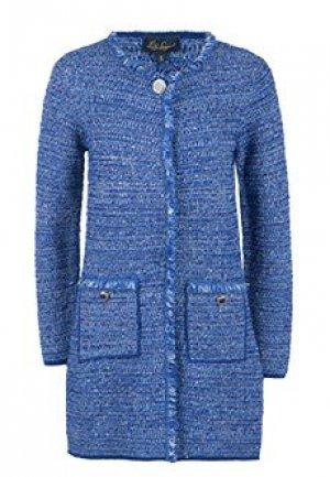 Пальто LUISA SPAGNOLI. Цвет: голубой