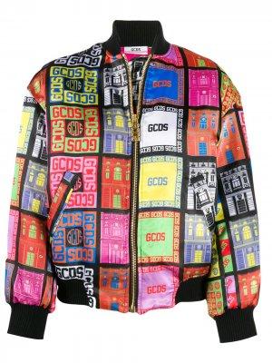 Куртка-бомбер с логотипом Gcds. Цвет: черный
