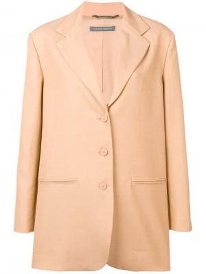 Пиджак свободного кроя Alberta Ferretti. Цвет: бежевый