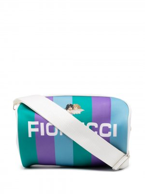 Дорожная сумка Equipe с логотипом Fiorucci. Цвет: зеленый