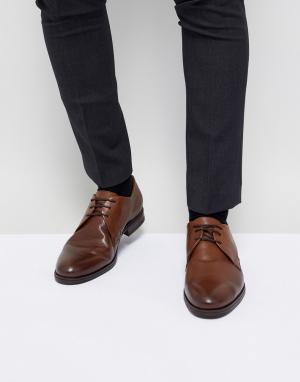 Коричневые кожаные дерби Premium-Коричневый Jack & Jones