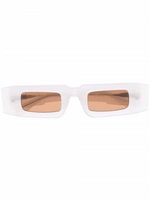 Солнцезащитные очки X5 в прямоугольной оправе Kuboraum. Цвет: белый