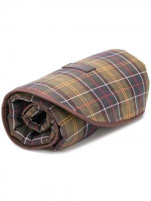 Одеяло в клетку Barbour. Цвет: зеленый