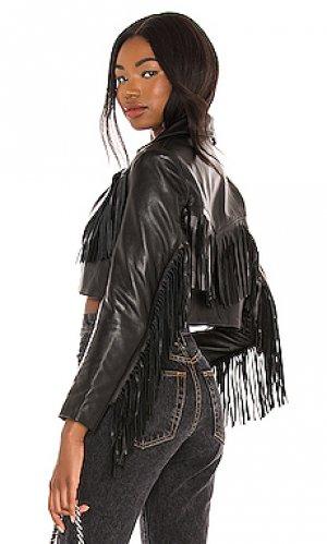 Куртка malboro Understated Leather. Цвет: черный