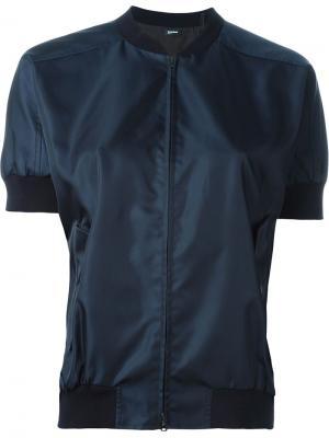 Куртка-бомбер с короткими рукавами Jil Sander Navy. Цвет: синий