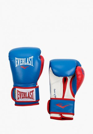 Перчатки боксерские Everlast Powerlock. Цвет: синий