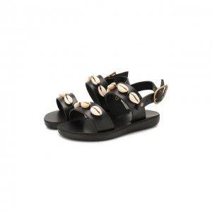 Кожаные босоножки Ancient Greek Sandals. Цвет: чёрный