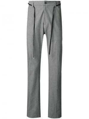 Классические брюки в ломаную клетку LANVIN