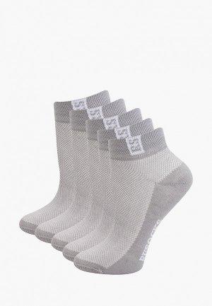 Носки 5 пар Rusocks. Цвет: серый