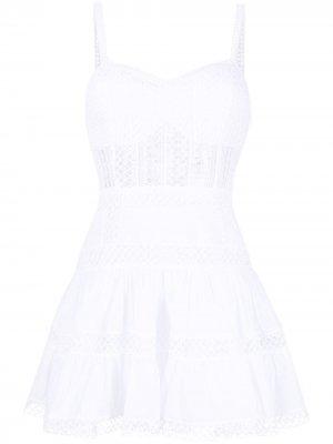 Платье мини Irish в технике кроше Charo Ruiz Ibiza. Цвет: белый
