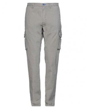 Повседневные брюки FRED MELLO. Цвет: голубиный серый