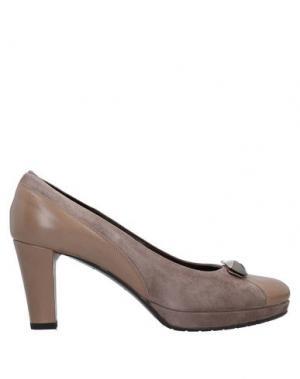 Туфли ELATA. Цвет: голубиный серый