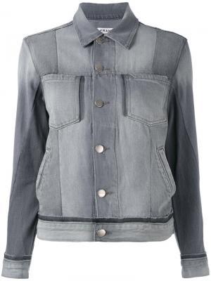 Джинсовая куртка с карманами Frame Denim. Цвет: серый