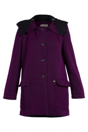 Пальто MET. Цвет: фиолетовый