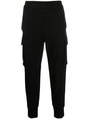 Спортивные брюки из джерси Emporio Armani. Цвет: черный