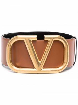 Ремень с пряжкой-логотипом VLogo Signature Valentino Garavani. Цвет: коричневый