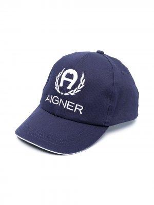 Бейсболка с вышитым логотипом Aigner Kids. Цвет: синий