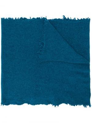 Frayed edge scarf Altea. Цвет: синий