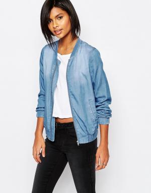 Светлая джинсовая куртка-пилот Vila. Цвет: светлый