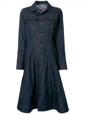 Джинсовое платье со вставками Ralph Lauren Collection. Цвет: синий