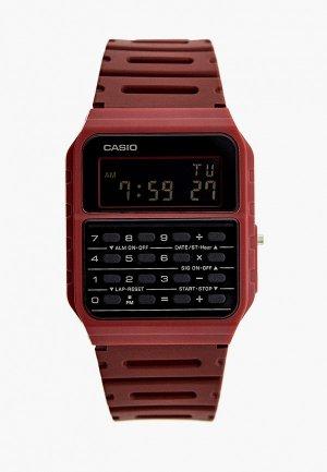Часы Casio Collection CA-53WF-4BEF. Цвет: бордовый