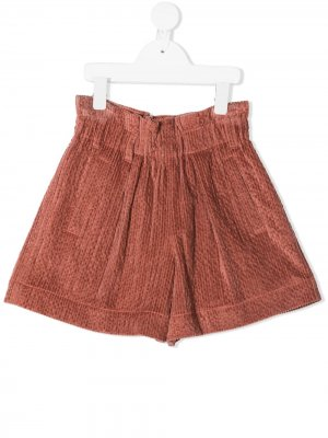Elasticated corduroy shorts Brunello Cucinelli Kids. Цвет: розовый